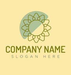 summer logo concept vector image