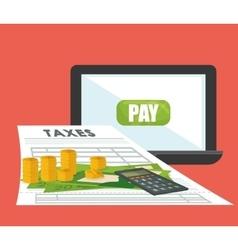 Tax document design vector