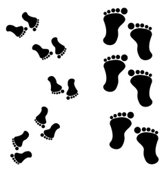 Traces of feet vector image