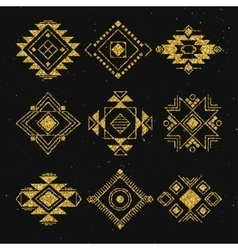 Tribal geometric elements collection vector