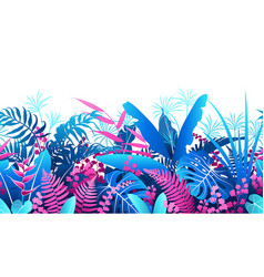 tropical plants colorful seamless pattern vector image