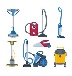 Vacuum cleaner modern automatic electrical vector