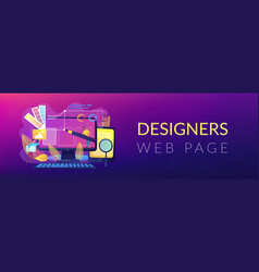 web design development header or footer banner vector image