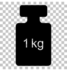 Weight simple sign Flat style black icon on vector image