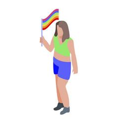 Woman fashion lesbian icon isometric style vector