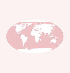 World map pink globe vector
