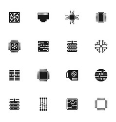 computer an icon3 vector image vector image