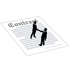 Contract business people sign agreement vector image vector image