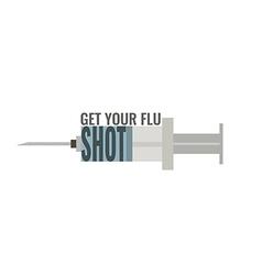 Get your flu shot vector image