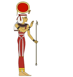 Isis Isolated figure of ancient egypt god vector image vector image