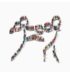 people sports kickboxing vector image