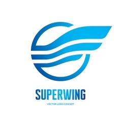 Superwing - logo concept vector image vector image