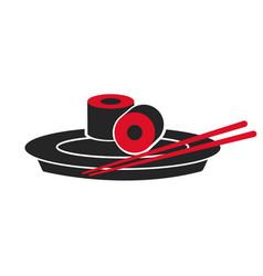 japanese sushi food dish stick custom vector image