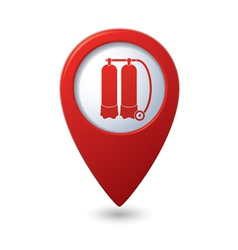 Map pointer with aqualung icon vector image vector image
