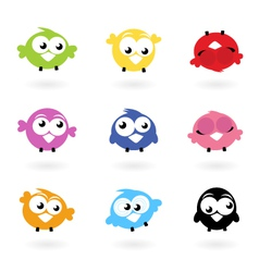 Twitter bird icons vector