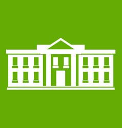 white house usa icon green vector image vector image