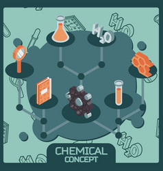 chemical color isometric concept icons vector image