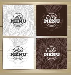 coffee menu design vector image