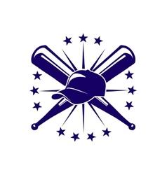 Baseball icon or emblem vector image