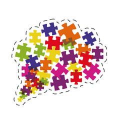 cloud puzzle solution image vector image