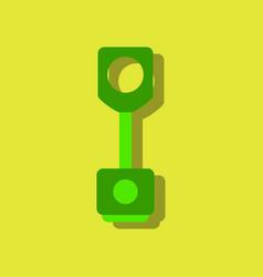 flat icon design car piston in sticker style vector image