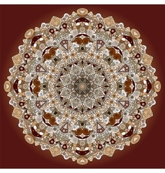 Ornament color card with mandala vector image