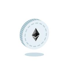 3d isometric ethereum symbol vector image