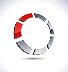 Abstract 3d ring icon vector