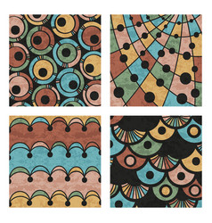 abstract colored hand drawn doodle patterns vector image
