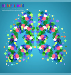 Abstract human lungs colorful circles for your vector
