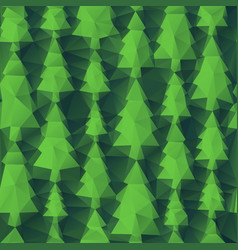 abstract seamless trees of triangles vector image