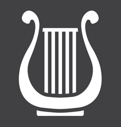 ancient greek lyre glyph icon music vector image