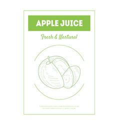 apple juice banner template fresh and natural vector image