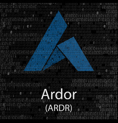 Ardor cryptocurrency background vector