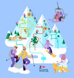 beautiful ski club skiing vector image