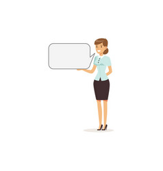 beautiful smiling businesswoman character with vector image