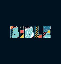 bible concept word art vector image
