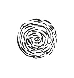 Black spot drawn with ink strokes vector