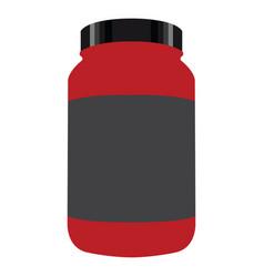 bottle of nutritional supplements vector image