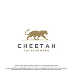 Cheetah logo icon vector