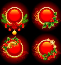 Christmas buttons vector image