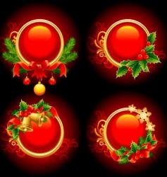 Christmas buttons vector