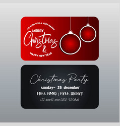 christmas red and black banner template vector image
