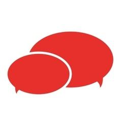 Conversation bubbles with dots icon design vector