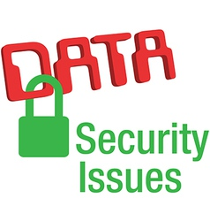 Data security issues secure lock vector image