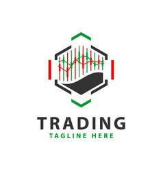 Digital stock trading logo vector