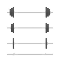 Dumbbells set vector