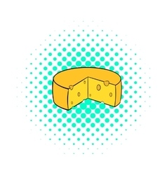 Dutch cheese icon comics style vector