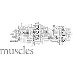 exercise your back pain away vector image