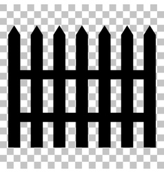 Fence simple sign Flat style black icon on vector image